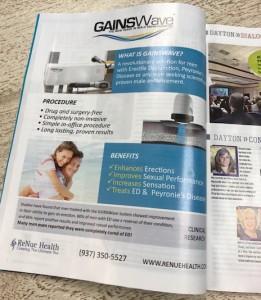 GAINSWave Provider News: ReNue Health Dayton Magazine