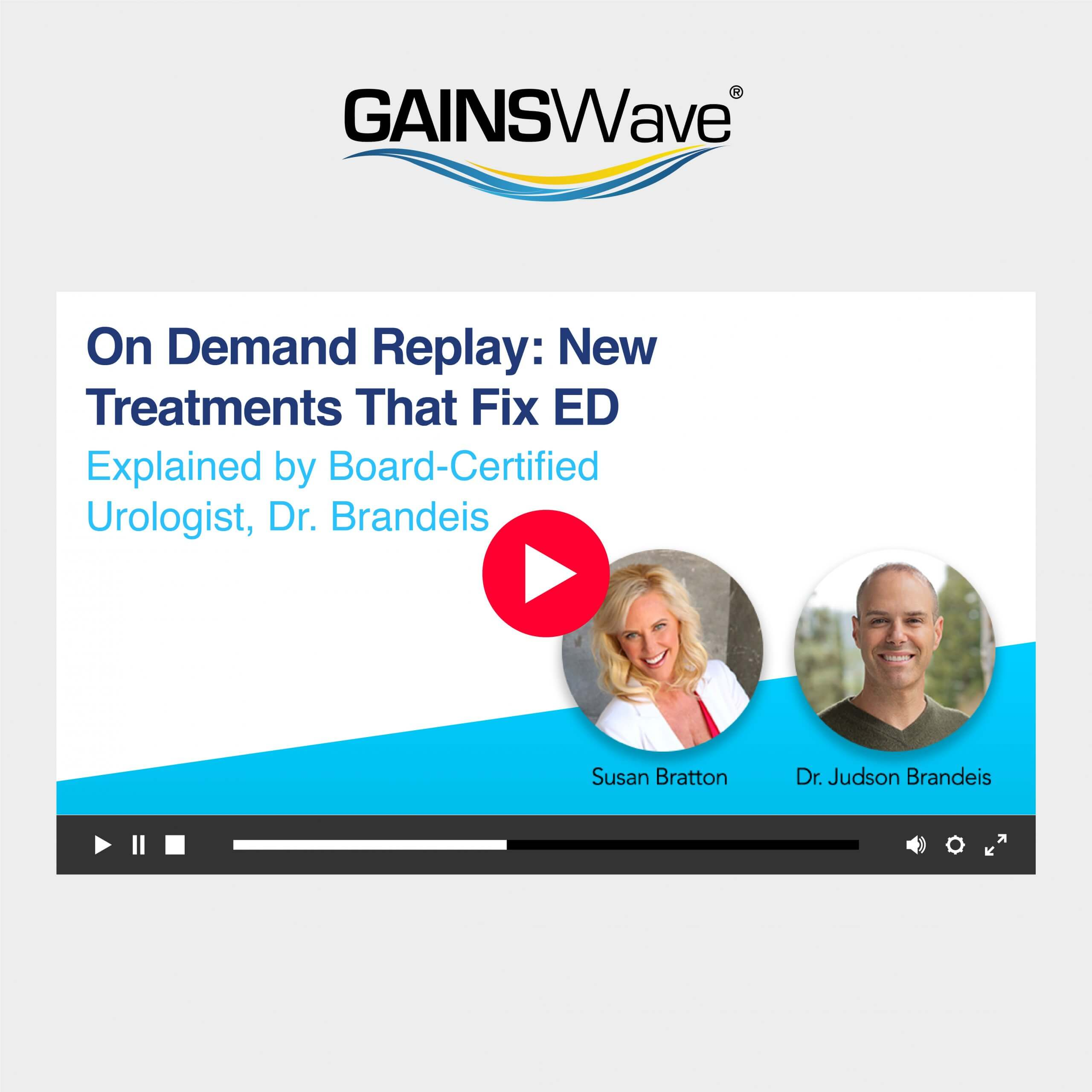 Webinar: New Treatments That Fix ED feat Urologist, Dr. Brandeis